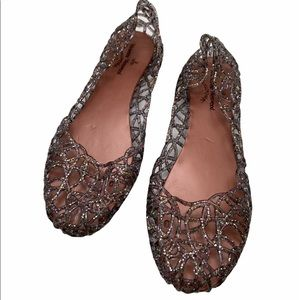 Vivienne Westwood Glittered Jelly Ballet Flats